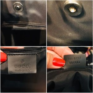 Gucci Bags - GUCCI Black Leather Bag with Silver Tone strap
